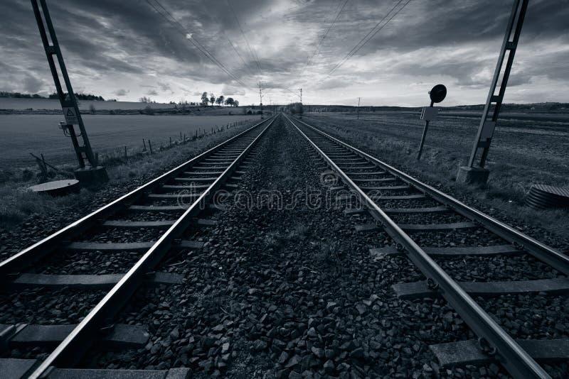 τραίνο διαδρομής οριζόντω στοκ φωτογραφία