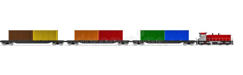 Τραίνο εμπορευματοκιβωτίων ελεύθερη απεικόνιση δικαιώματος