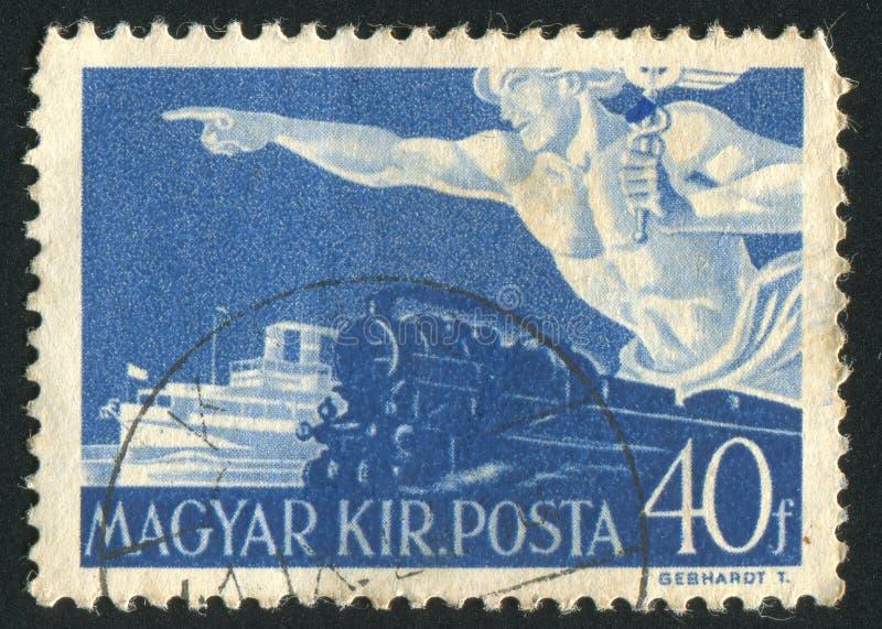 Τραίνο και βάρκα στοκ φωτογραφία