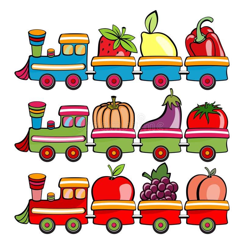 Τραίνο κινούμενων σχεδίων απεικόνιση αποθεμάτων