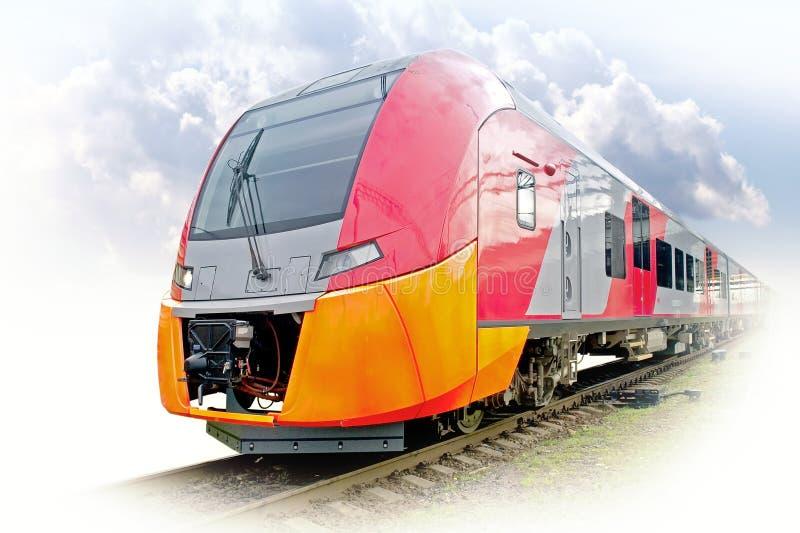 Τραίνο μεγάλων ηλεκτρικό σιδηροδρόμων στοκ φωτογραφία με δικαίωμα ελεύθερης χρήσης