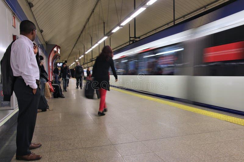 Τραίνο μετρό της Μαδρίτης στοκ φωτογραφία