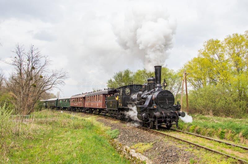 Τραίνο νοσταλγίας ατμού στοκ εικόνα με δικαίωμα ελεύθερης χρήσης