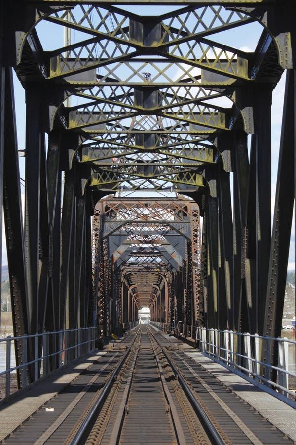 τραίνο σιδήρου γεφυρών στοκ εικόνες