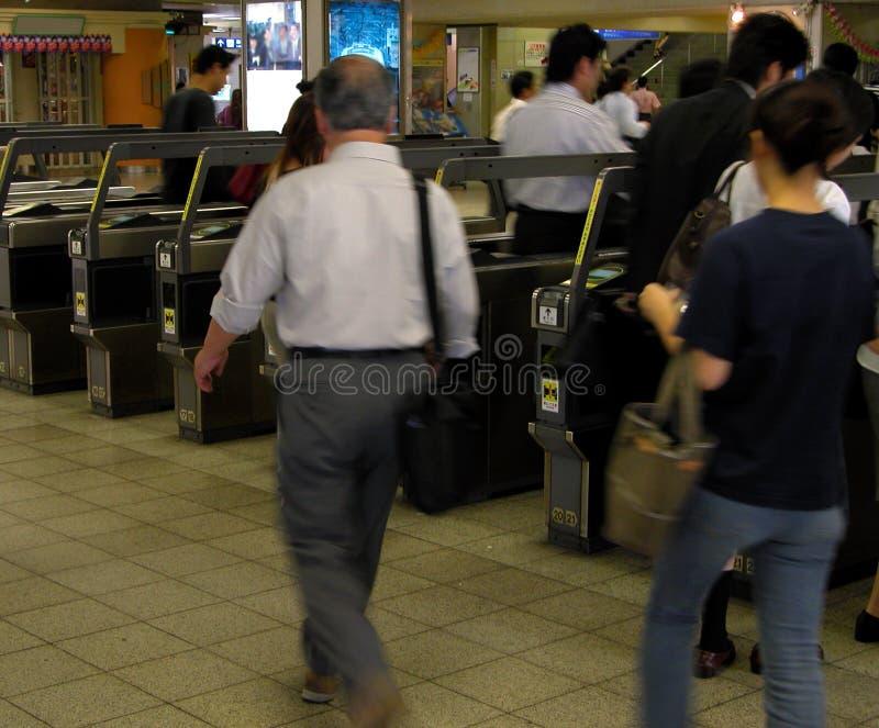 τραίνο σταθμών πρωινού πτυχή& στοκ εικόνα με δικαίωμα ελεύθερης χρήσης