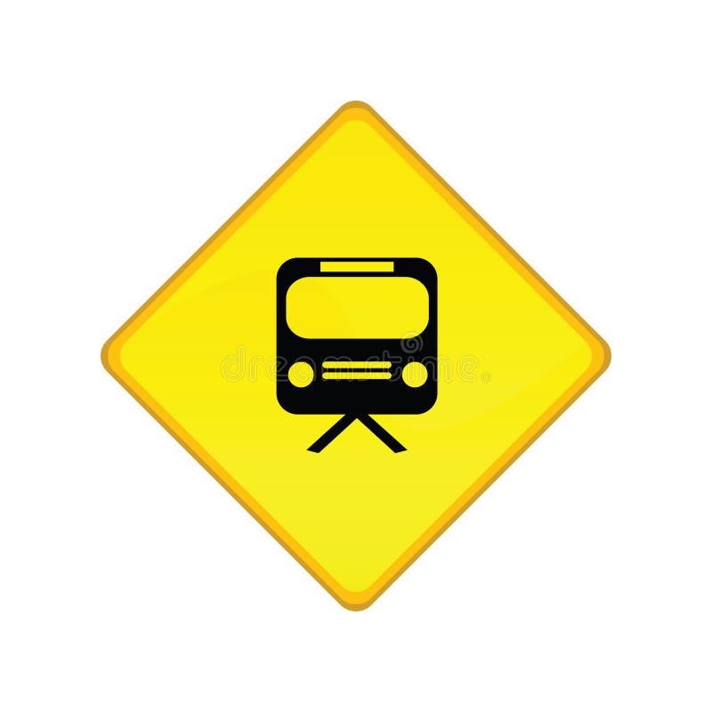 τραίνο σταθμών σημαδιών ελεύθερη απεικόνιση δικαιώματος