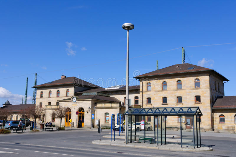 τραίνο σταθμών της Γερμανίας lichtenfels στοκ εικόνες με δικαίωμα ελεύθερης χρήσης