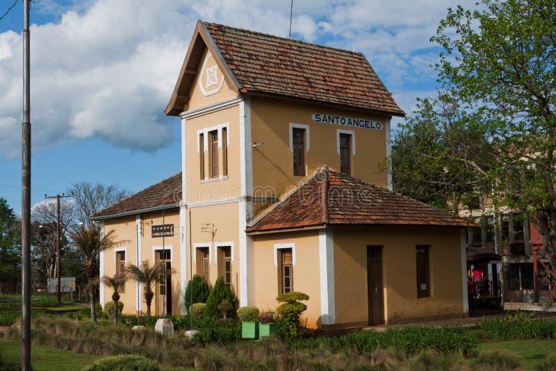τραίνο σταθμών santo του Angelo Βραζ& στοκ φωτογραφία με δικαίωμα ελεύθερης χρήσης
