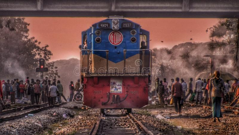 Τραίνο στην Ασία στοκ φωτογραφία με δικαίωμα ελεύθερης χρήσης