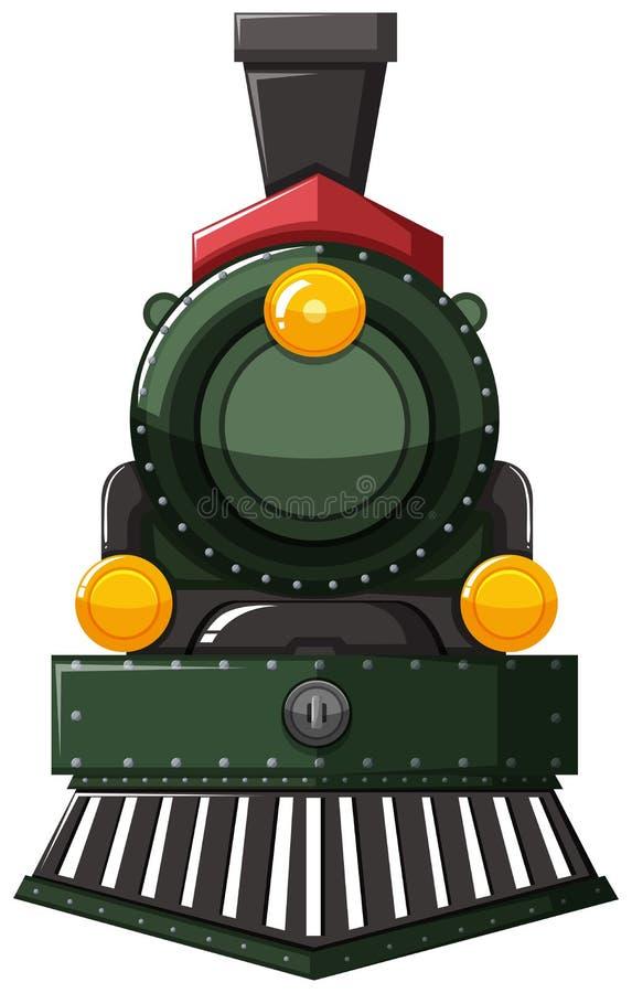 Τραίνο στο πράσινο χρώμα διανυσματική απεικόνιση