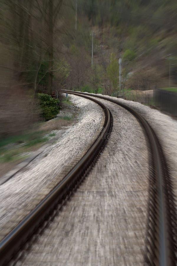 τραίνο ταχύτητας σιδηροδρόμου στοκ φωτογραφίες