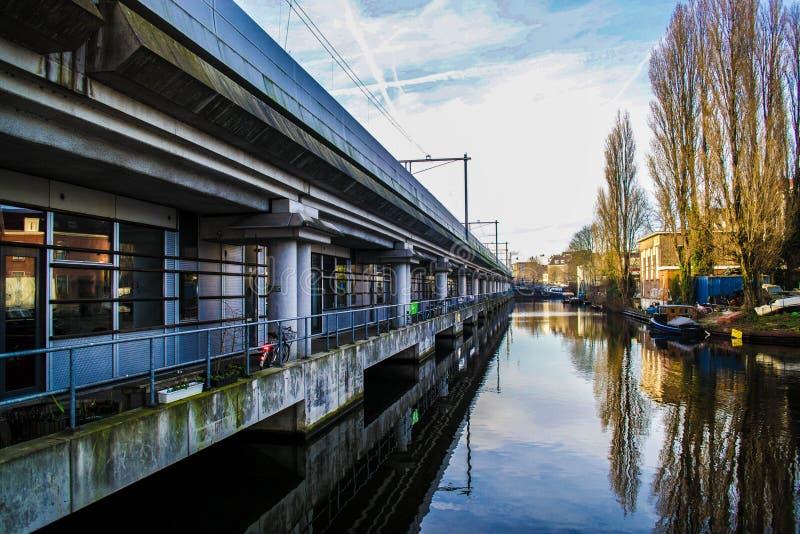 Τραίνο του Άμστερνταμ στοκ εικόνα