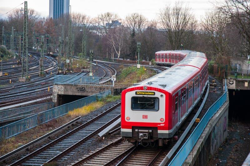 Τραίνο του Αμβούργο s -s-bahn στοκ φωτογραφία με δικαίωμα ελεύθερης χρήσης