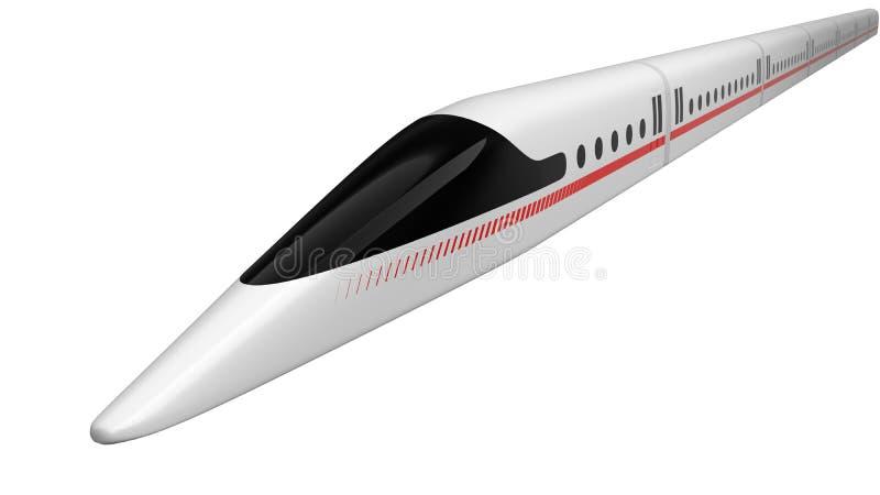 τραίνο υψηλής ταχύτητας σχέδιο έννοιας για το μαγνητικό μετεωρισμό και την κενή τεχνολογία σηράγγων τρισδιάστατη απεικόνιση ελεύθερη απεικόνιση δικαιώματος
