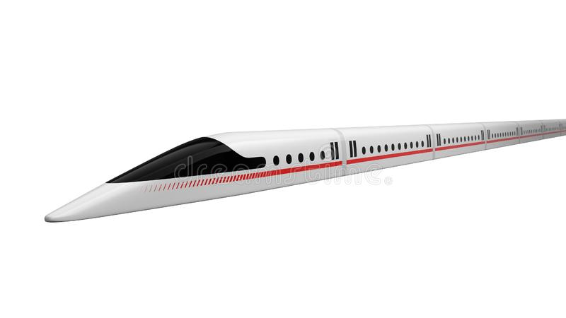 τραίνο υψηλής ταχύτητας σχέδιο έννοιας για το μαγνητικό μετεωρισμό και την κενή τεχνολογία σηράγγων τρισδιάστατη απεικόνιση απεικόνιση αποθεμάτων