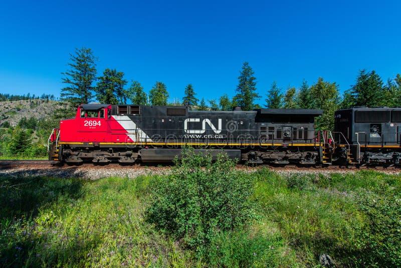 Τραίνο φορτίου - Βρετανική Κολομβία Καναδάς στοκ εικόνες με δικαίωμα ελεύθερης χρήσης