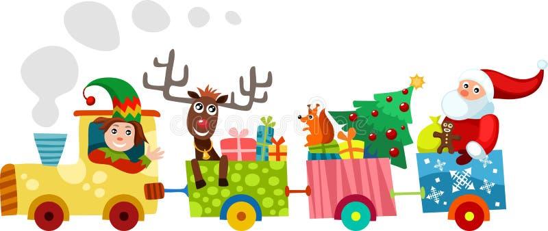 Τραίνο Χριστουγέννων ελεύθερη απεικόνιση δικαιώματος