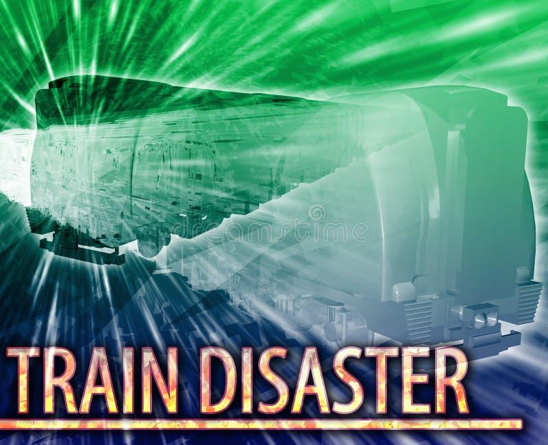 Τραίνων ψηφιακή απεικόνιση έννοιας καταστροφής αφηρημένη απεικόνιση αποθεμάτων