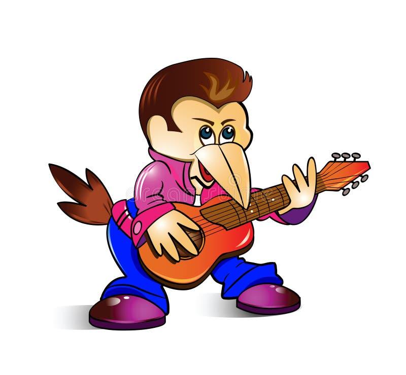 τραγουδιστής μουσικών απεικόνιση αποθεμάτων