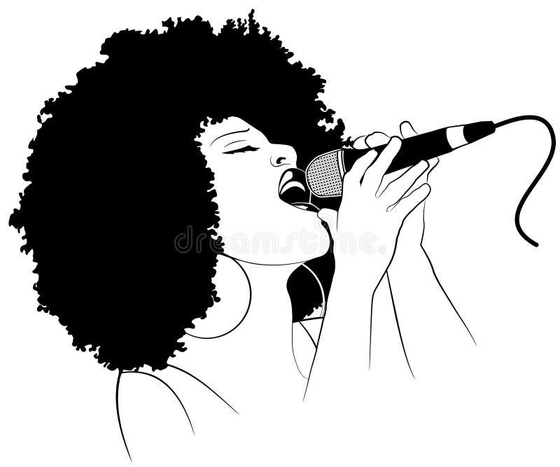 Τραγουδιστής τζαζ διανυσματική απεικόνιση