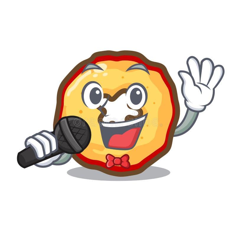 Τραγουδώντας τσιπ μήλων που παρουσιάζονται στους πίνακες χαρακτήρα απεικόνιση αποθεμάτων
