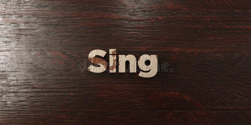 Τραγουδήστε - βρώμικος ξύλινος τίτλος στο σφένδαμνο - στο τρισδιάστατο δικαίωμα την ελεύθερη εικόνα αποθεμάτων διανυσματική απεικόνιση