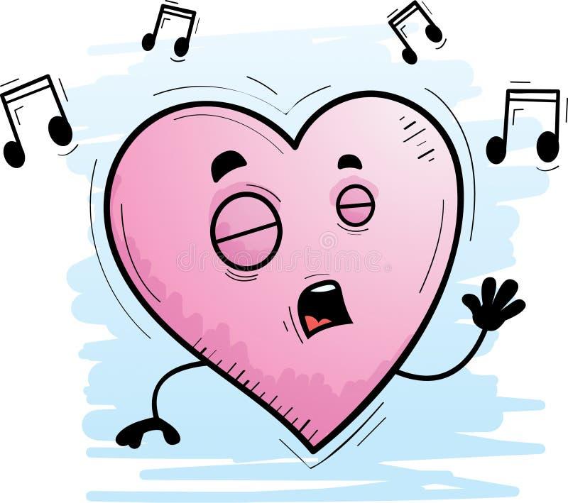 Τραγούδι καρδιών κινούμενων σχεδίων ελεύθερη απεικόνιση δικαιώματος