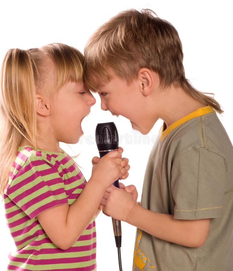 τραγούδι παιδιών στοκ εικόνες με δικαίωμα ελεύθερης χρήσης