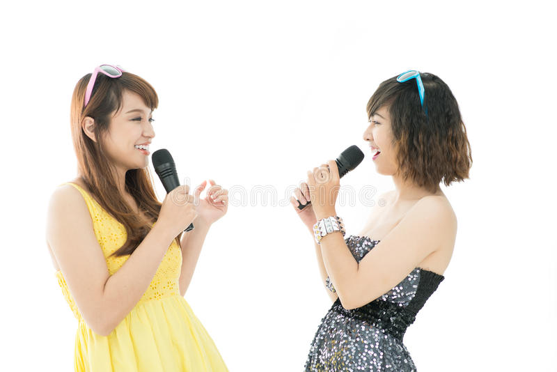 Τραγούδι karaoke στοκ φωτογραφίες με δικαίωμα ελεύθερης χρήσης