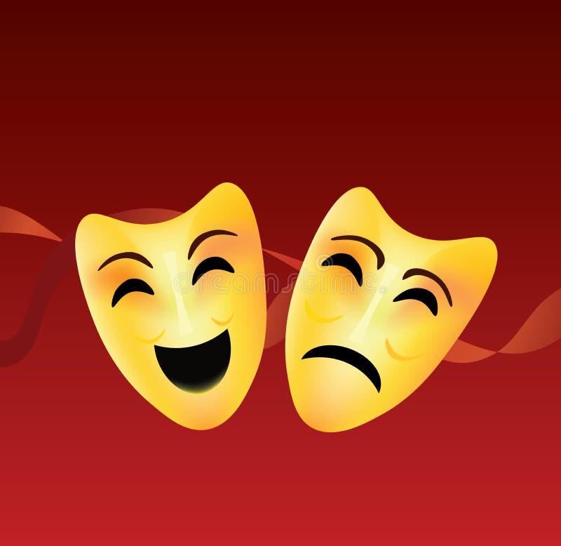 τραγωδία θεάτρων μασκών κωμωδίας ελεύθερη απεικόνιση δικαιώματος