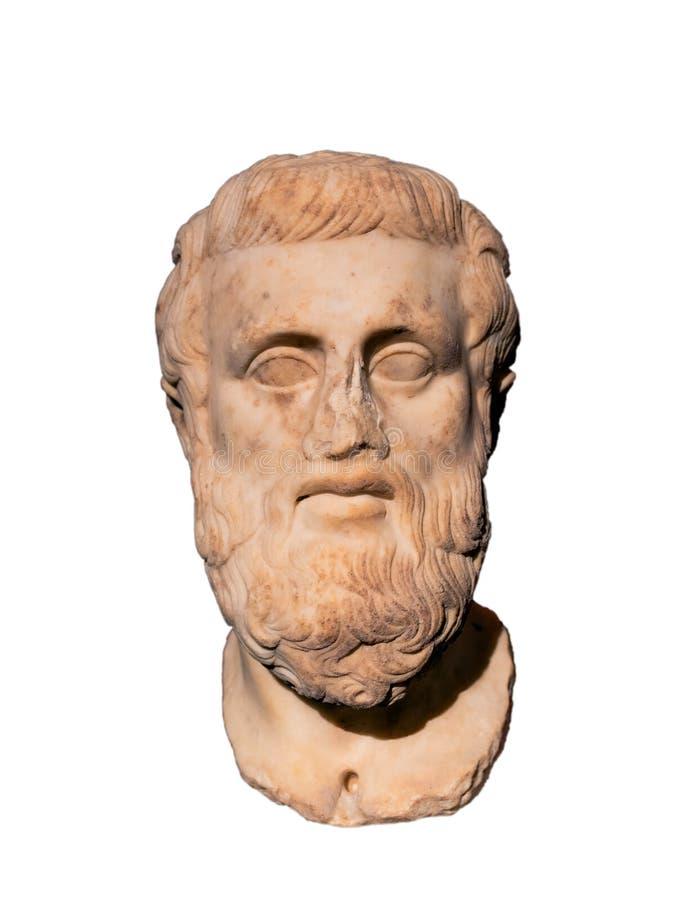 Τραγωδός Sophocles 498-406 αρχαίου Έλληνα Π.Χ. στοκ φωτογραφία με δικαίωμα ελεύθερης χρήσης