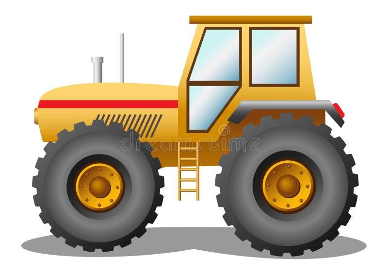 τρακτέρ κίτρινο ελεύθερη απεικόνιση δικαιώματος
