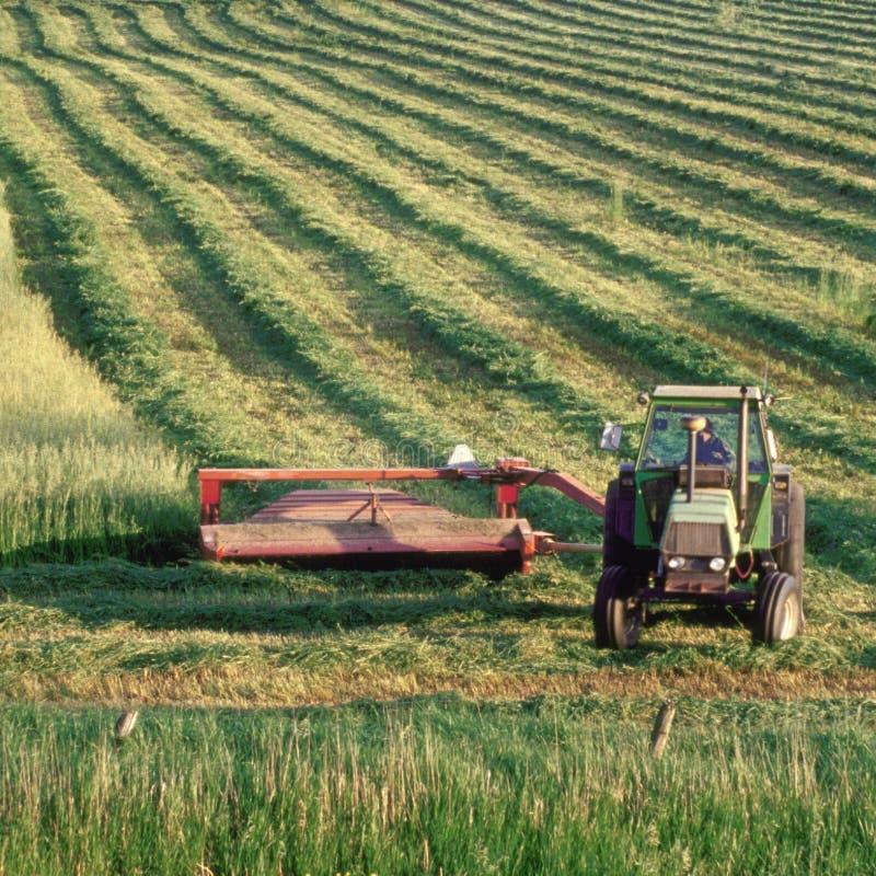 τρακτέρ πεδίων αγροτών στοκ φωτογραφίες