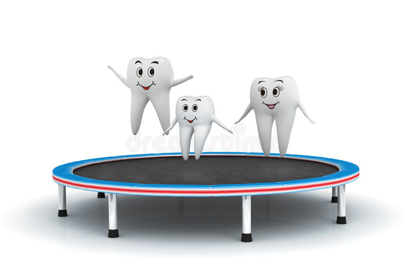 τραμπολίνο δοντιών οικο&gamm διανυσματική απεικόνιση