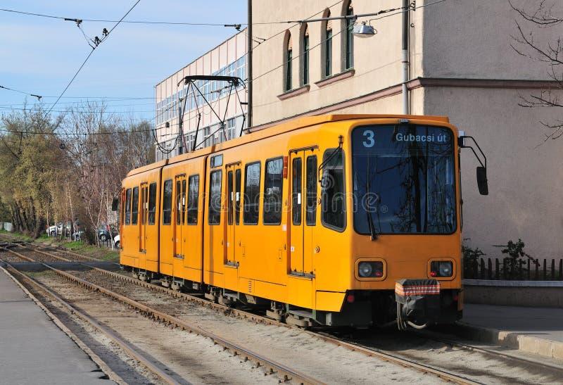 τραμ κίτρινο στοκ φωτογραφίες με δικαίωμα ελεύθερης χρήσης