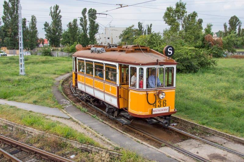 Τραμ νοσταλγίας στη Βουδαπέστη στοκ εικόνα
