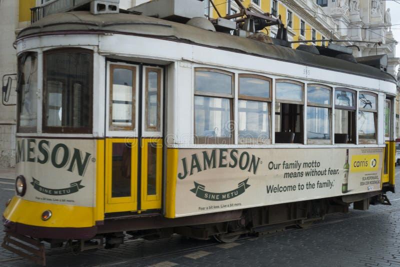 Τραμ στη Λισσαβώνα Πορτογαλία στοκ εικόνες