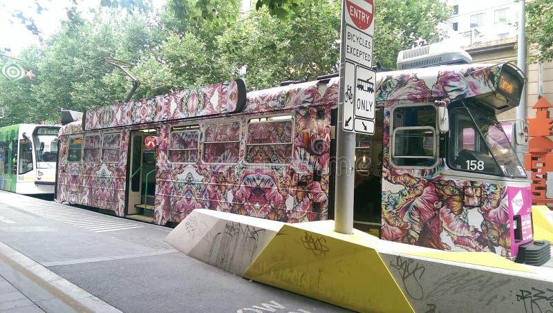 Τραμ στη Μελβούρνη στοκ εικόνες