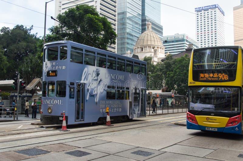Τραμ στο νησί Χονγκ Κονγκ στοκ εικόνα