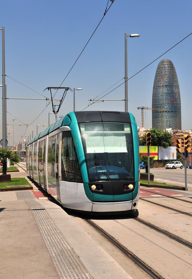 τραμ της Βαρκελώνης στοκ εικόνες