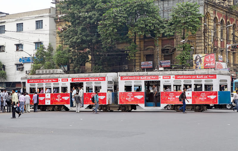 τραμ kolkata της Ινδίας στοκ φωτογραφία με δικαίωμα ελεύθερης χρήσης