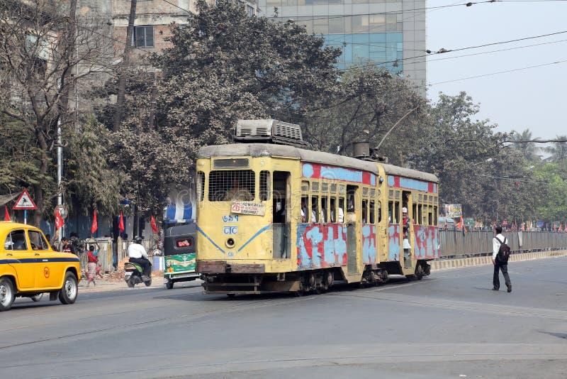 Τραμ Kolkata στοκ φωτογραφίες