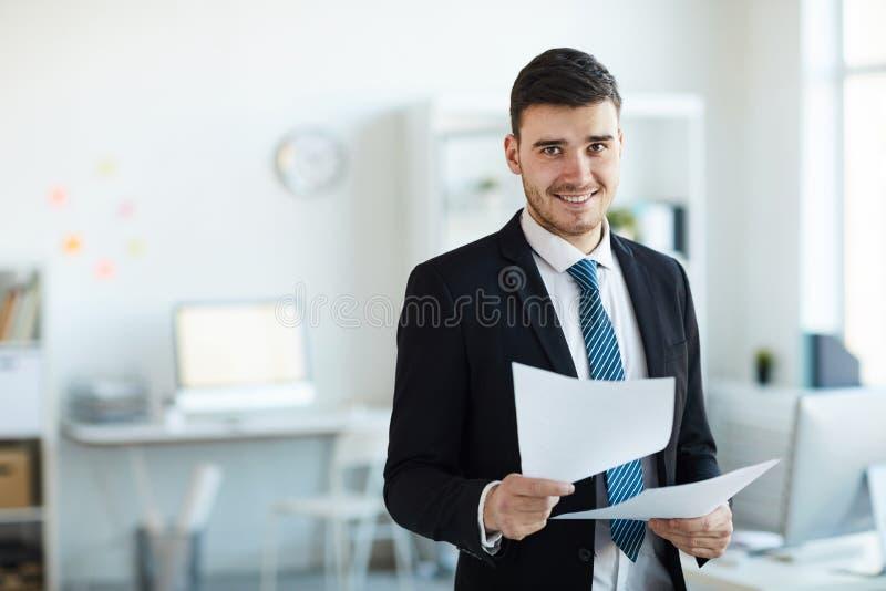 τραπεζίτης επιτυχής στοκ φωτογραφία