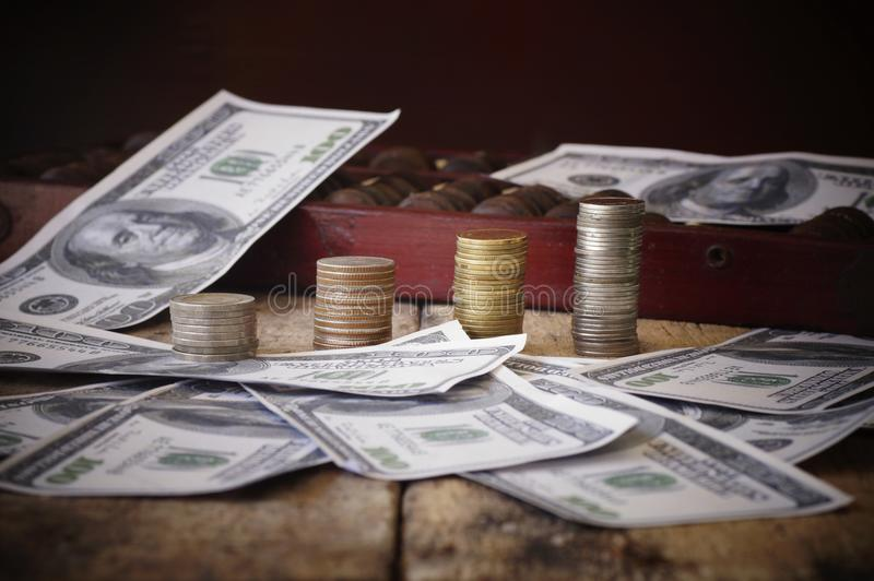τραπεζογραμμάτιο και νόμισμα, χρήματα στοκ φωτογραφία με δικαίωμα ελεύθερης χρήσης