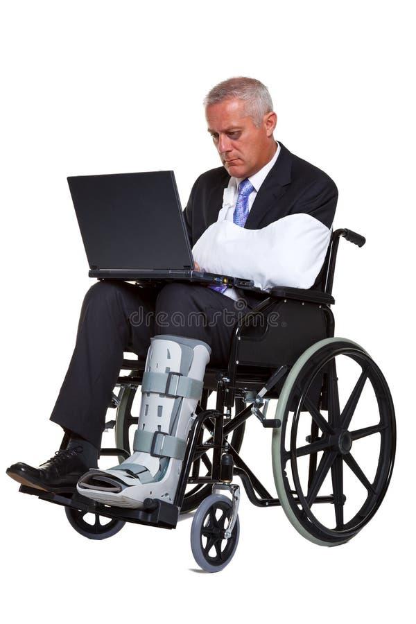 τραυματισμένη επιχειρημα στοκ εικόνα