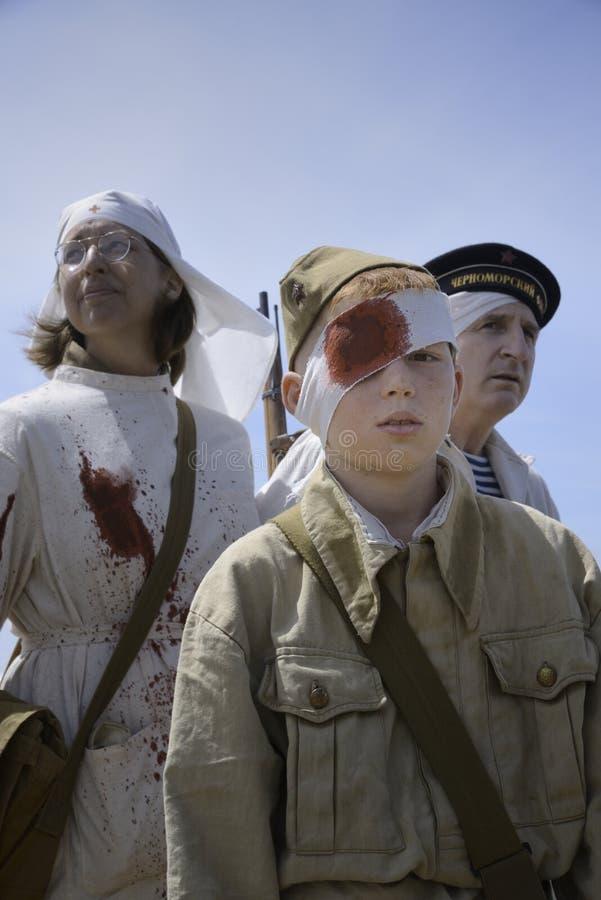 Τραυματισμένοι στρατιώτες στοκ φωτογραφία με δικαίωμα ελεύθερης χρήσης