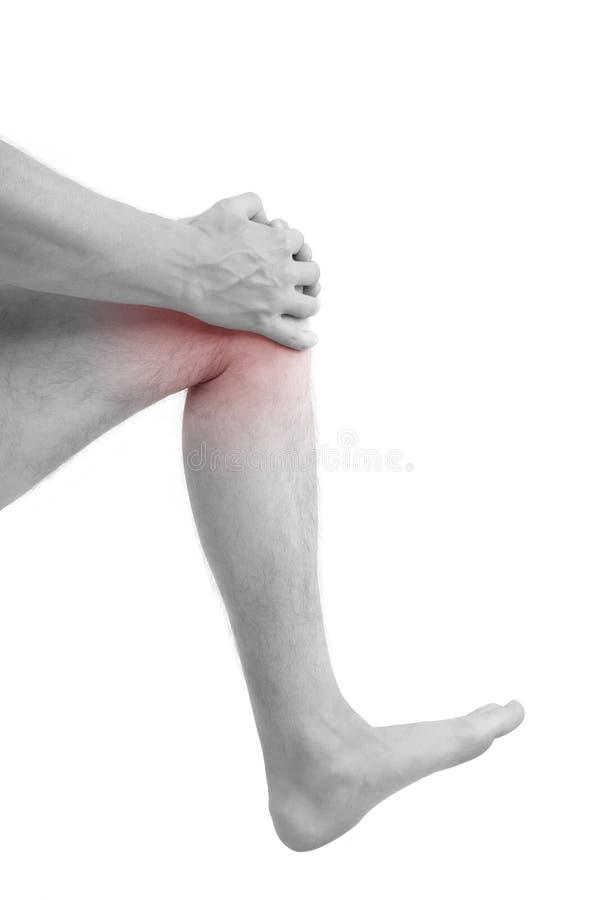 Τραυματισμένο εκμετάλλευση γόνατο ατόμων στοκ φωτογραφία με δικαίωμα ελεύθερης χρήσης