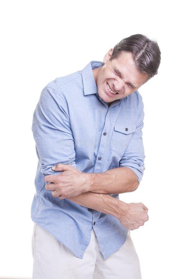 Τραυματισμός αγκώνων στοκ εικόνα