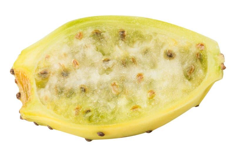 Τραχιά αχλάδια, opuntia, ινδικό σύκο που απομονώνεται στο άσπρο υπόβαθρο στοκ εικόνες