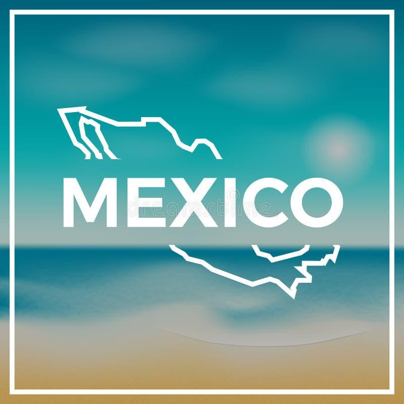 Τραχιά περίληψη χαρτών του Μεξικού ενάντια στο σκηνικό απεικόνιση αποθεμάτων